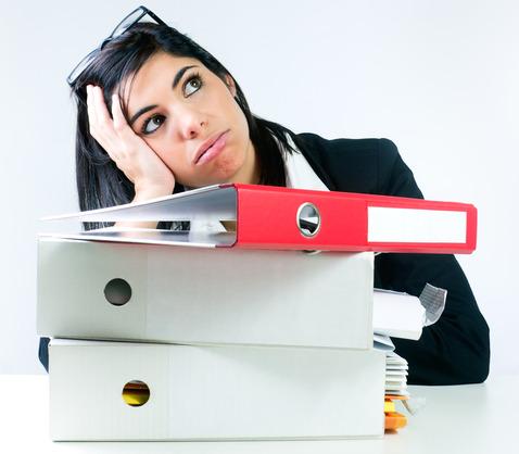 Overwhelmed Office Worker